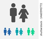 man and woman icon vector... | Shutterstock .eps vector #1460590772