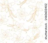 vanilla flowers and pods....   Shutterstock .eps vector #1460603402