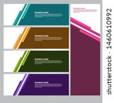 set collection vector abstract... | Shutterstock .eps vector #1460610992