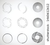 halftone dots in circle form.... | Shutterstock .eps vector #1460612612