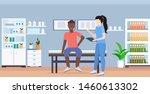 doctor holding clipboard female ...   Shutterstock .eps vector #1460613302