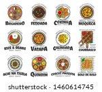 brazilian cuisine food and... | Shutterstock .eps vector #1460614745