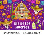Day Of Dead In Mexico  Altar...