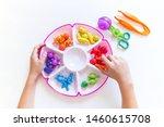 montessori material. children's ... | Shutterstock . vector #1460615708