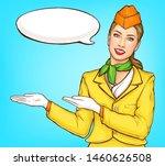 pop art stewardess  flight...   Shutterstock .eps vector #1460626508