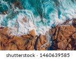 Coast Of Desert Island With...