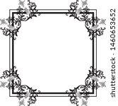 cute pattern with design flower ...   Shutterstock .eps vector #1460653652