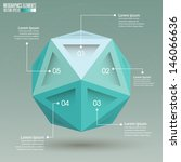 sphere infographic template... | Shutterstock .eps vector #146066636