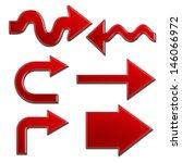 set of red arrows   Shutterstock . vector #146066972