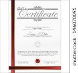 certificate template | Shutterstock .eps vector #146070095