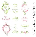 vector set of floral frames.... | Shutterstock .eps vector #1460720042