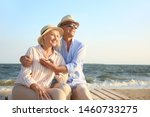 Happy Mature Couple At Sea...