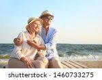 Happy Mature Couple At Sea...