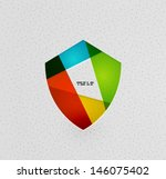 colorful protection shield... | Shutterstock .eps vector #146075402