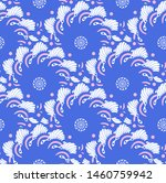 asian style floral seamless...   Shutterstock .eps vector #1460759942
