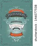 Vintage Invitation Poster...