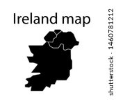 Stock vector ireland map sign simple icon inscription in english map of ireland 1460781212