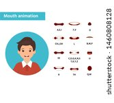 mouth animation poster  banner... | Shutterstock .eps vector #1460808128