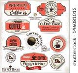 set of retro vintage coffee... | Shutterstock .eps vector #146081012