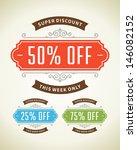 window advertising vintage... | Shutterstock .eps vector #146082152