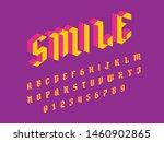 font. modern isometric font... | Shutterstock .eps vector #1460902865