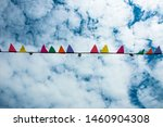 colorful little flags on the...   Shutterstock . vector #1460904308
