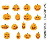 set pumpkin on white background.... | Shutterstock .eps vector #1460904992