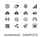 network icons | Shutterstock .eps vector #146091572