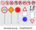 traffic sign icon set blank for