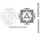 vector icon with ganesha yantra ...   Shutterstock .eps vector #1460952128
