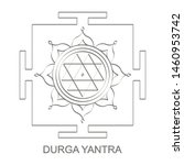 vector icon with durga yantra...   Shutterstock .eps vector #1460953742