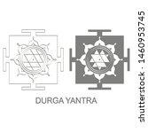 vector icon with durga yantra...   Shutterstock .eps vector #1460953745