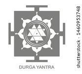 vector icon with durga yantra...   Shutterstock .eps vector #1460953748