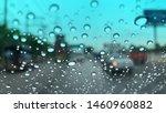 Defocused Image  Raindrops On...