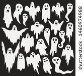 halloween ghosts. ghostly... | Shutterstock .eps vector #1460974988