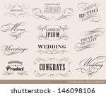 typography  calligraphic design ... | Shutterstock .eps vector #146098106