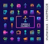 eps10 gradient vector icons... | Shutterstock .eps vector #1460990228