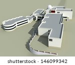 architecture 3d sketch of the... | Shutterstock . vector #146099342