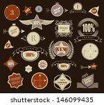 set of retro vintage style...   Shutterstock .eps vector #146099435