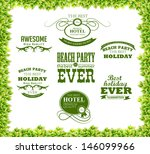 green leaves texture and ... | Shutterstock .eps vector #146099966