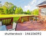 residential backyard deck... | Shutterstock . vector #146106092