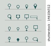 pins icon | Shutterstock .eps vector #146106512