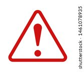 hazard warning sign icon ... | Shutterstock .eps vector #1461078935