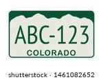 license plate of colorado.... | Shutterstock .eps vector #1461082652