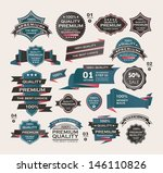 set of vintage labels ribbon  ... | Shutterstock .eps vector #146110826