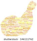 Chicken Leg Word Cloud Concept