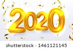 golden 2020 new year xmas party ...   Shutterstock . vector #1461121145