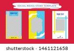 social media story template... | Shutterstock .eps vector #1461121658