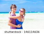 young happy family having fun... | Shutterstock . vector #146114636