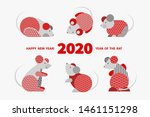 rat is a symbol of the 2020... | Shutterstock .eps vector #1461151298